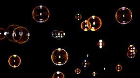 черное мыло пузырей Стоковое Фото