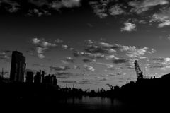 черное небо Стоковое Изображение
