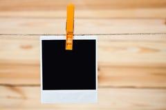 черное немедленное фото Стоковое Изображение