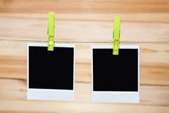 черное немедленное фото Стоковые Изображения RF
