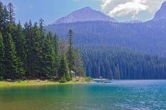 Черное озеро в Черногори Стоковое Изображение