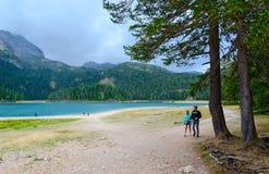 Черное озеро, национальный парк Durmitor, Черногория Стоковая Фотография