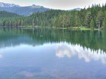 черное озеро Стоковая Фотография