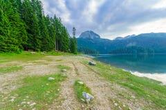 Черное озеро, Durmitor Стоковые Фото