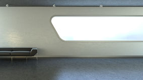 черное окно стены interrior кресла copyspace Стоковые Фото