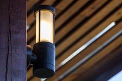 Черное освещение стены яркости Стоковые Фотографии RF