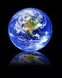черное отражение глобуса Стоковое Фото