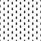 Черное падение дождя безшовное на белой предпосылке также вектор иллюстрации притяжки corel иллюстрация штока