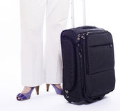 черное перемещение чемодана стоковое фото rf