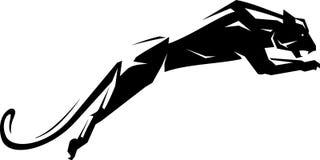 Черное перескакивание ягуара бесплатная иллюстрация