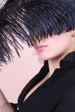 Черное перо Стоковые Изображения
