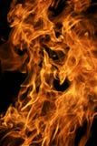 черное пламя пожара Стоковые Изображения