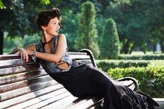 черное платье стоковая фотография