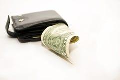 черное портмоне доллара Стоковые Фото