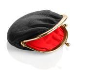 Черное портмоне изменения монетки Стоковое Фото