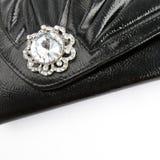 черное портмоне кожи монетки Стоковые Изображения