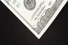 черное примечание одно шерсти 100 доллара Стоковая Фотография