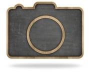Черное пустое классн классный формы камеры с деревянным Стоковые Фото