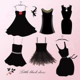 черное платье немногая Стоковое фото RF