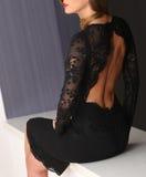Черное платье Стоковое Изображение