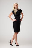 черное платье стоковое фото rf