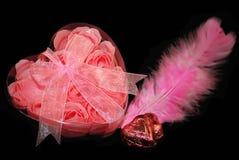 черное розовое Валентайн Стоковые Изображения RF