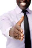 черное рукопожатие дела Стоковое Фото