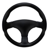 черное рулевое колесо Стоковая Фотография