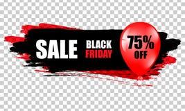 черное сбывание пятницы Черное знамя сети Продажа плаката оригинал надписи иллюстрации пасхи счастливый также вектор иллюстрации  Стоковая Фотография RF