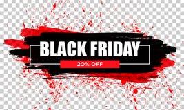 черное сбывание пятницы Черное знамя сети Продажа плаката оригинал надписи иллюстрации пасхи счастливый Стоковое Изображение RF