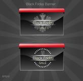 черное сбывание пятницы Карточка стиля черноты знамени Стоковая Фотография