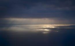 черное светлое солнце пятна моря Стоковая Фотография RF