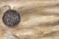 Черное семя сезама - indicum Sesamum стоковое изображение rf