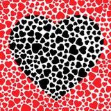 черное сердце Стоковая Фотография