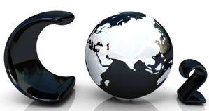 черное слово СО2 Стоковое Изображение