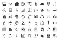 Черное собрание значков для независимого и дела иллюстрация штока