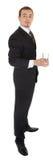 черное стекло дела держит костюм человека o молодой Стоковые Фото