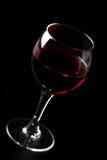 черное стекло над красным вином Стоковое Изображение RF