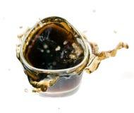 черное стекло питья освежает Стоковое фото RF