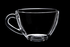 черное стекло чашки Стоковые Фото
