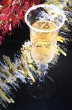 черное стекло шампанского Стоковые Изображения