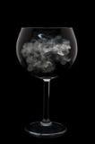 черное стекло шара над вином дыма Стоковое Изображение RF