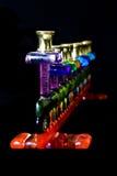 черное стеклянное menorah Стоковое Изображение