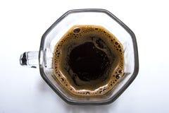 черное стекло кофейной чашки Стоковые Фото