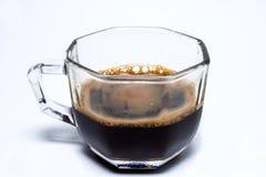 черное стекло кофейной чашки Стоковые Фотографии RF