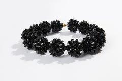 Черное стеклянное ожерелье Стоковая Фотография RF