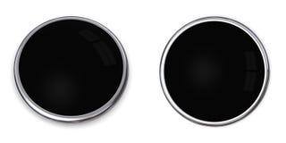 черное твердое тело кнопки 3d Стоковая Фотография RF