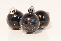 Черное украшение рождества Стоковое Изображение