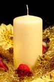 черное украшение свечки Стоковые Изображения RF