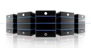 Черное хранение для знамени сети или коллектора верхней части Стоковые Изображения RF